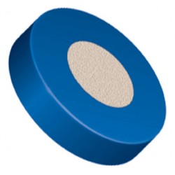 """Filters & Frits: PEEK™ Frit in PCTFE Ring, Natural, 0.5µm, 0.125"""" Frit OD / 0.250"""" Ring OD"""