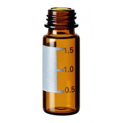 Vials, Caps and Closures: SureStop Short Thread Vial 9mm, 2ml (12 x32mm), Amber, Label