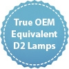 True OEM equivalent D2 lamps